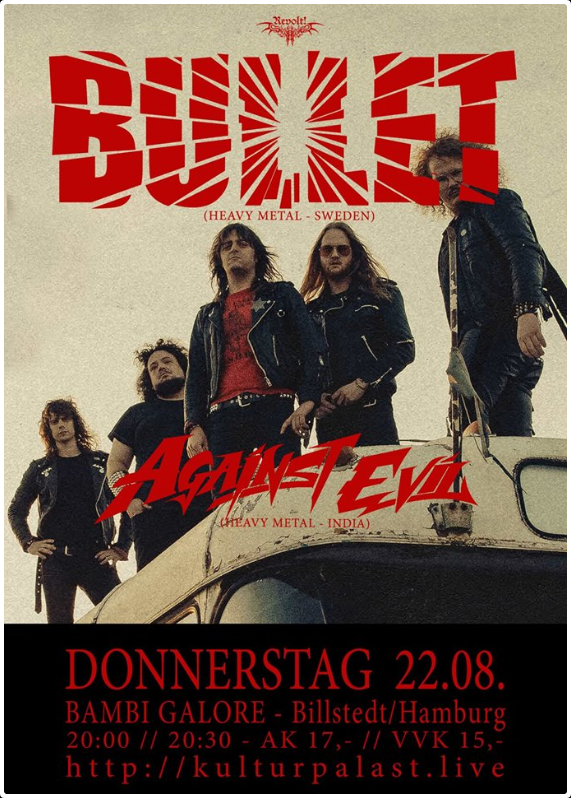 Link zu der Veranstaltung Revolt! Bullet, Against Evil